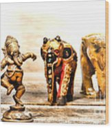 Ganesh Dream Wood Print by Olivier Le Queinec