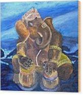 Ganesh Wood Print