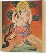 Ganesh Art Wood Print