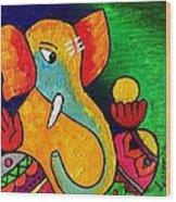 Ganesha Wood Print