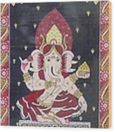 Ganesha The Hindu God Wood Print