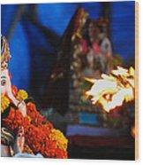 Ganesha Worship Wood Print