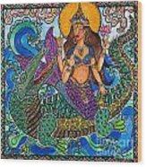 Ganga Wood Print by Melissa Cole