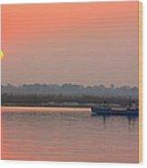 Ganges Sunset Wood Print