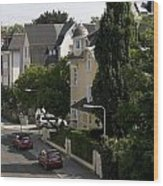 Ganghoferstrasse In Frankfurt Am Main Germany Wood Print