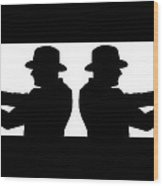 Gangster Silhouette Wood Print