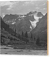 509417-bw-gannett Peak Seen From Dinwoody Creek Wood Print
