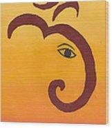 Ganpati- Om Wood Print