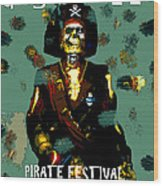 Gasparilla Pirate Fest 2015 Full Work Wood Print