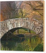 Gapstow Bridge In Central Park Wood Print