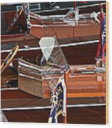 Gar Wooden Runabouts Wood Print