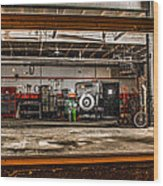 Garage Window Wood Print
