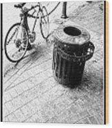 Garbage Bike  Wood Print
