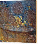 Garbage Can Abstract Wood Print