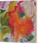 Garden Angel Abstract Wood Print