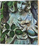 Garden Angel Wood Print