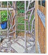 Garden At Cheryl's Wood Print