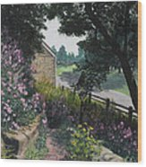 Garden At Pendarvis Mineral Point Wisconsin  1 Wood Print