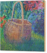 Garden Basket Wood Print