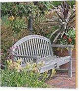 Garden Benches 3 Wood Print