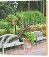 Garden Benches 7 Wood Print