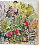 Garden Birds Wood Print
