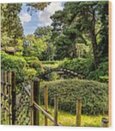 Garden Bridge Wood Print
