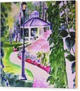 Garden City Gazebo Wood Print