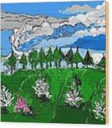 Garden Clouds Wood Print