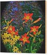 Garden Color Delight Wood Print