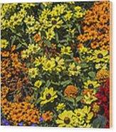 Garden Colors Wood Print