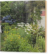 Garden Cottage Wood Print by Bill Wakeley