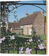 Garden  Cottage Wood Print by Stephen Norris