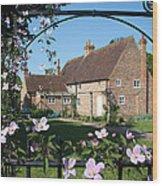 Garden  Cottage Wood Print by Stephen Norris