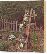 Garden Decorations Wood Print by Kay Pickens