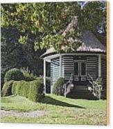 Garden Dome House In City Park Boschveld Arnhem Netherlands Wood Print