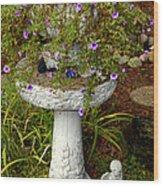 Garden Flowering Pot Wood Print