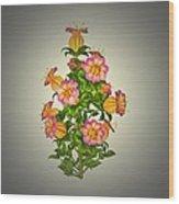 Garden Flowers 6 Wood Print