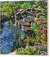 Garden Goldfish Pond Wood Print
