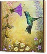 Garden Guest In Brown Wood Print