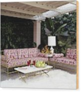 Garden-guest Room At The Chimneys Wood Print