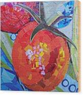 Garden Harvest Collage Detail Wood Print