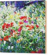 Garden Impressionism Wood Print