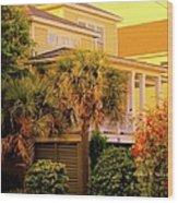 Garden Light At Isle Of Palms Wood Print