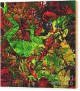 Garden Lizard Wood Print