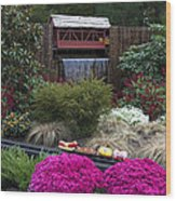 Garden Miniature Train Wood Print