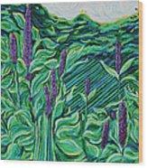 Garden Mint Wood Print