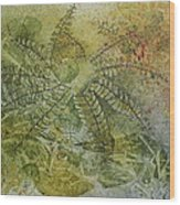 Garden Mist Wood Print by Patsy Sharpe