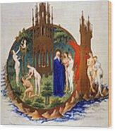 Garden Of Eden: Adam & Eve Wood Print