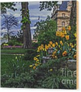 Sunset At Garden Of Les Invalides Wood Print